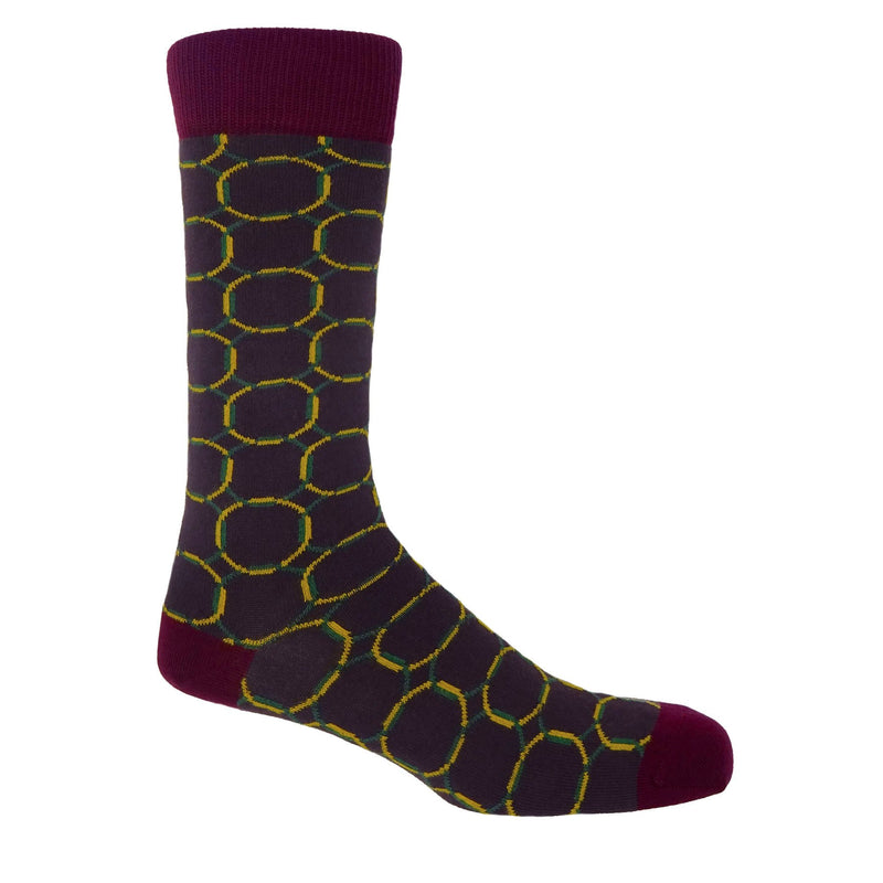 Linked Wine Men's Luxury Socks