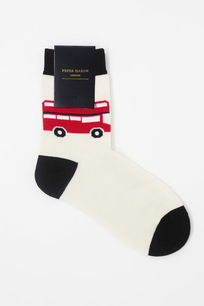 London Bus Cream Luxury Women's Socks
