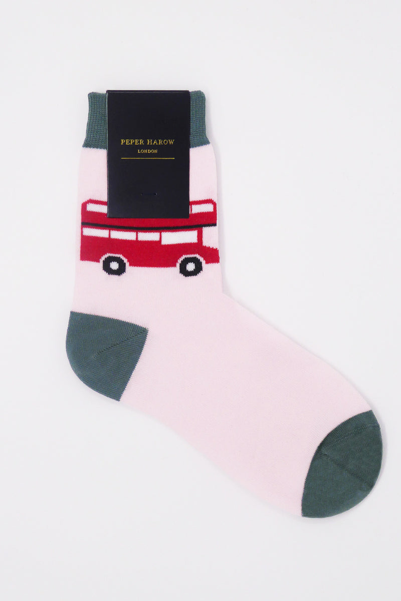 London Bus Pink Luxury Women's Socks