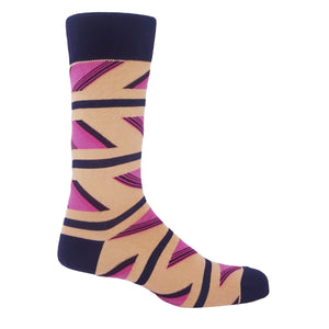 Marshmallow Geometric Men's Socks