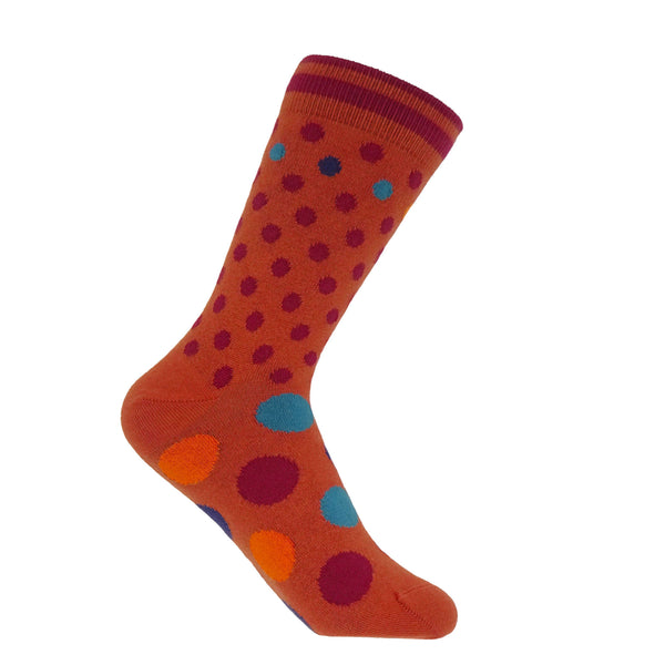 Mary Women's Socks - Terracotta