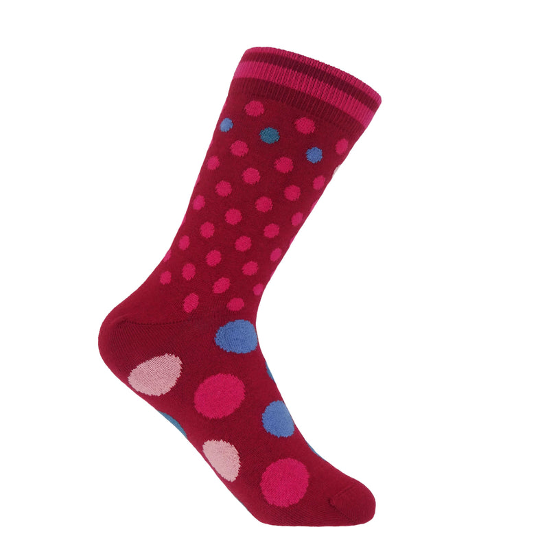 Mary Women's Socks - Wine