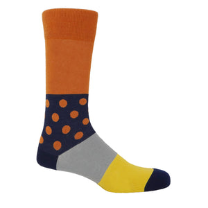 Mayfair Men's Socks - Burnt Orange