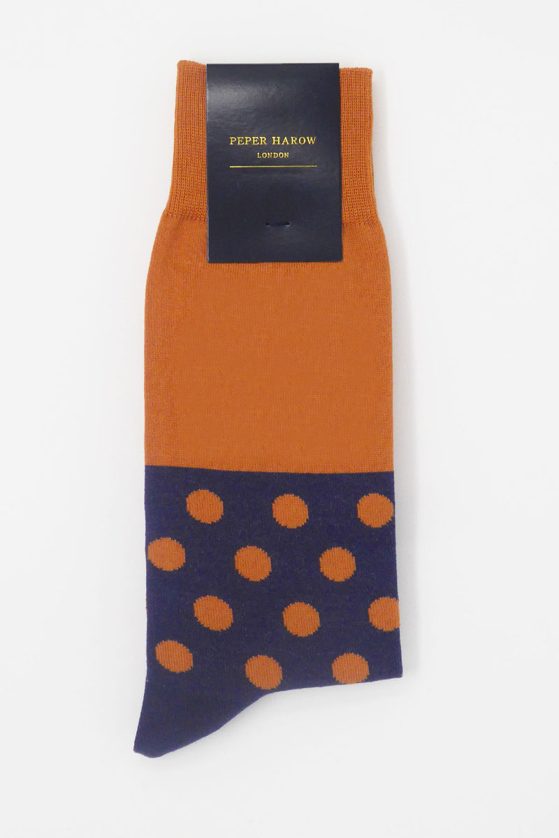 Burnt Orange Mayfair Men's Socks