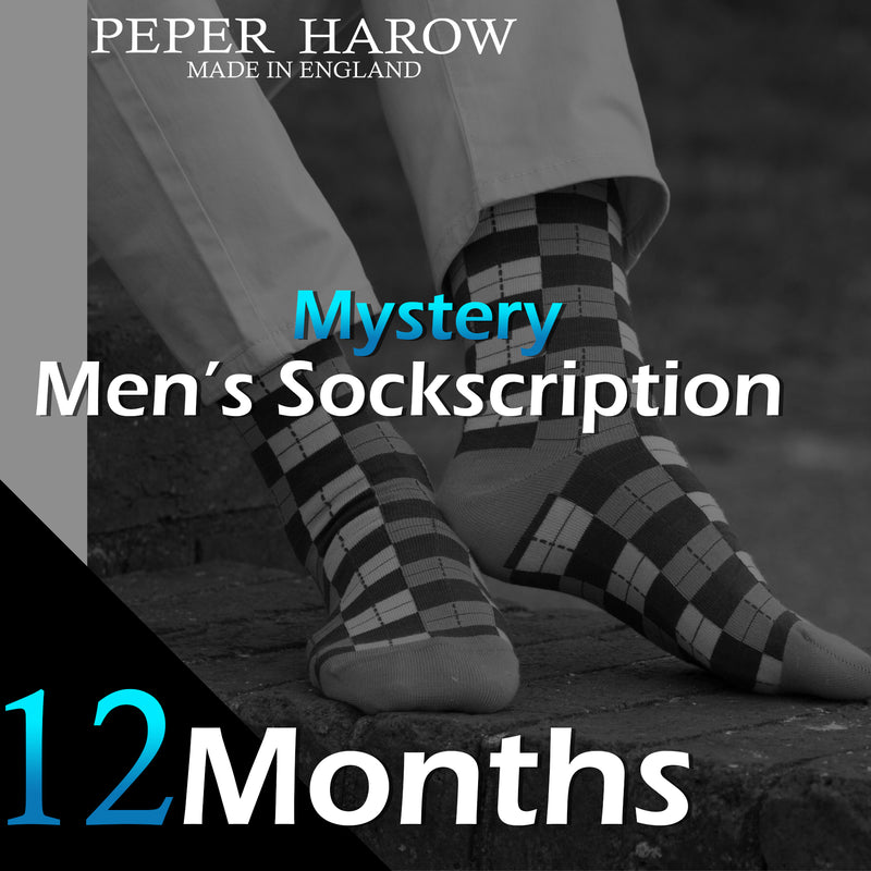 12 Month Men's Mystery Sockscription