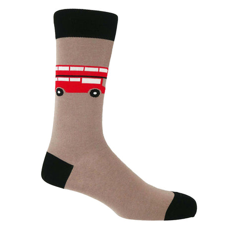 London Bus Men's Socks - Mink