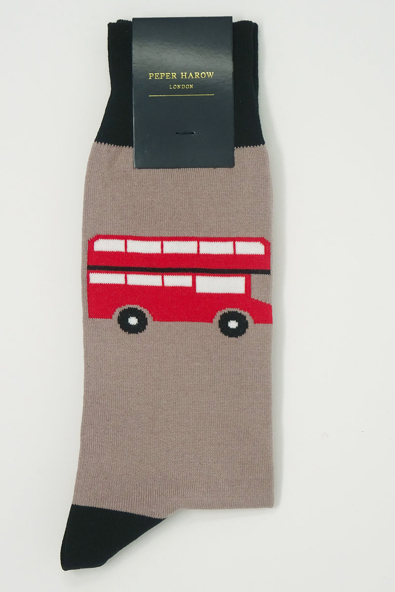 London Bus Mink Men's Socks Rider