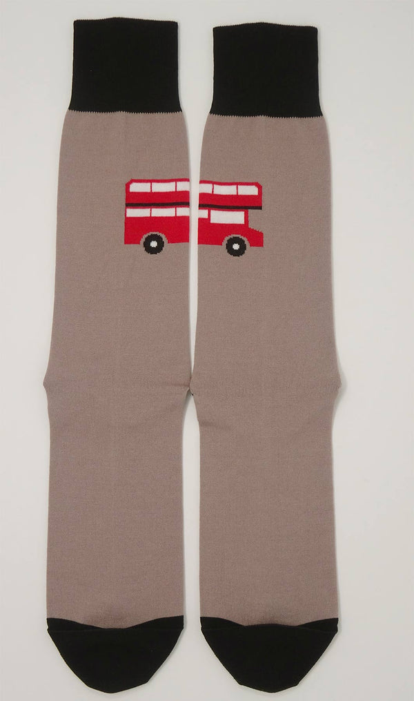 London Bus Mink Men's Socks Top