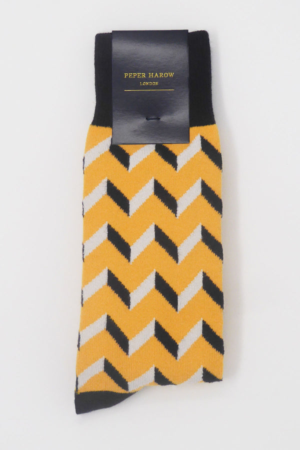 Mustard Optical Luxury Men's Socks