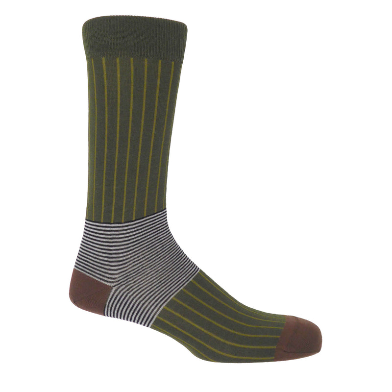 Oxford Sage Luxury Men's Socks