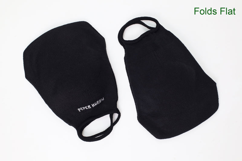 2 Pack Women's Washable Face Mask - Black