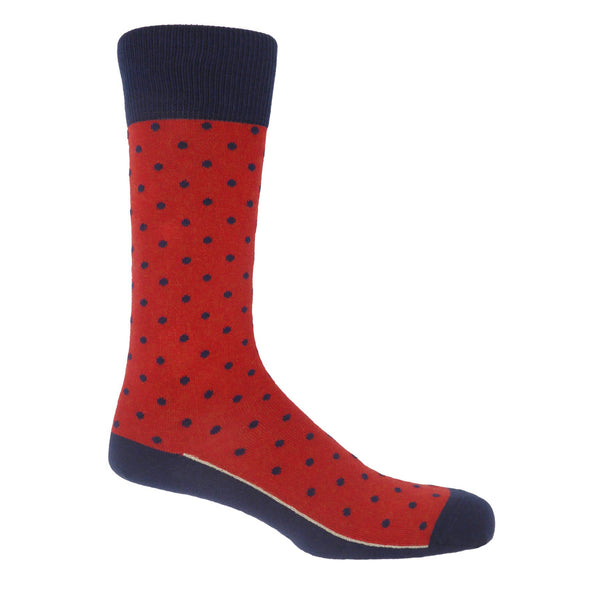 Pin Polka Men's Socks - Apple