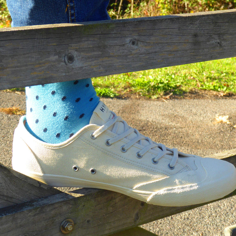 Pin Polka Azure luxury men's socks