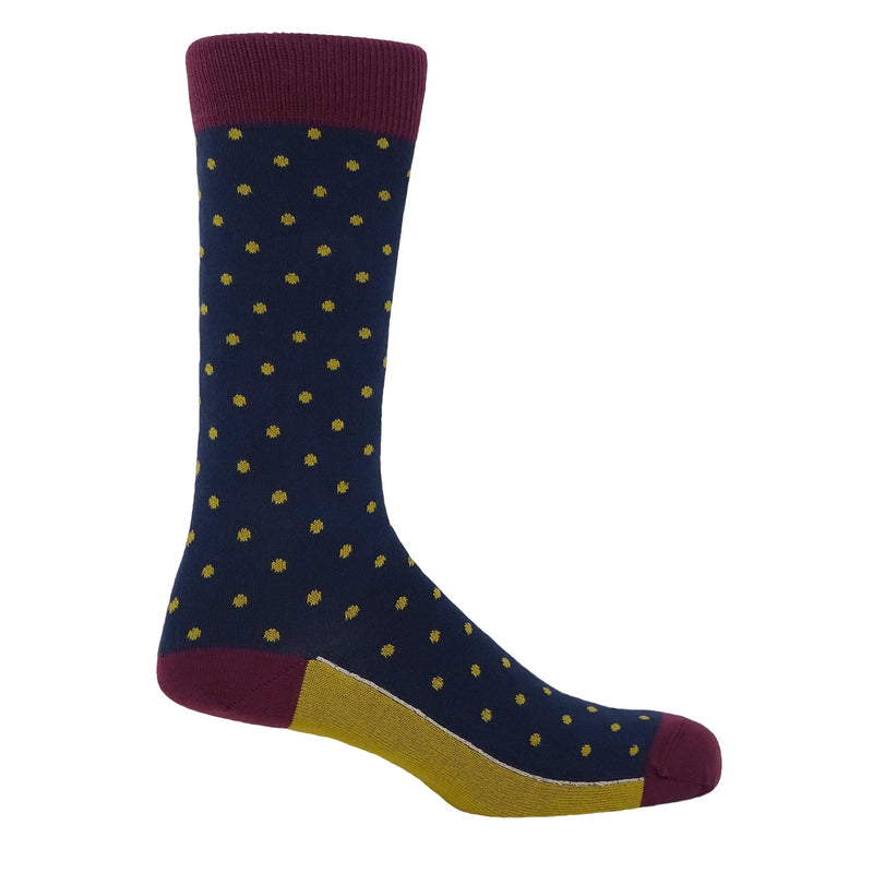 Pin Polka Men's Socks - Denim