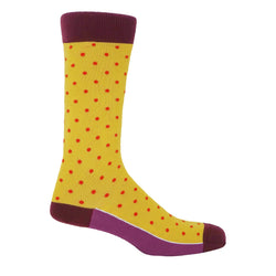 Pin Polka Men's Socks - Honey