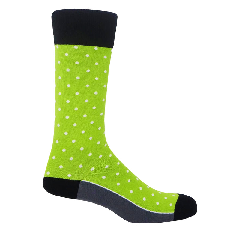Mint Pin Polka Luxury Men's Socks