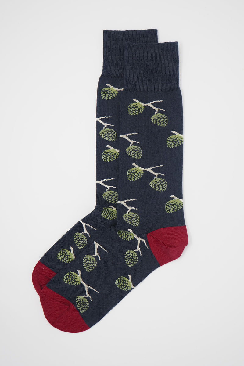 Pine Men's Socks - Navy