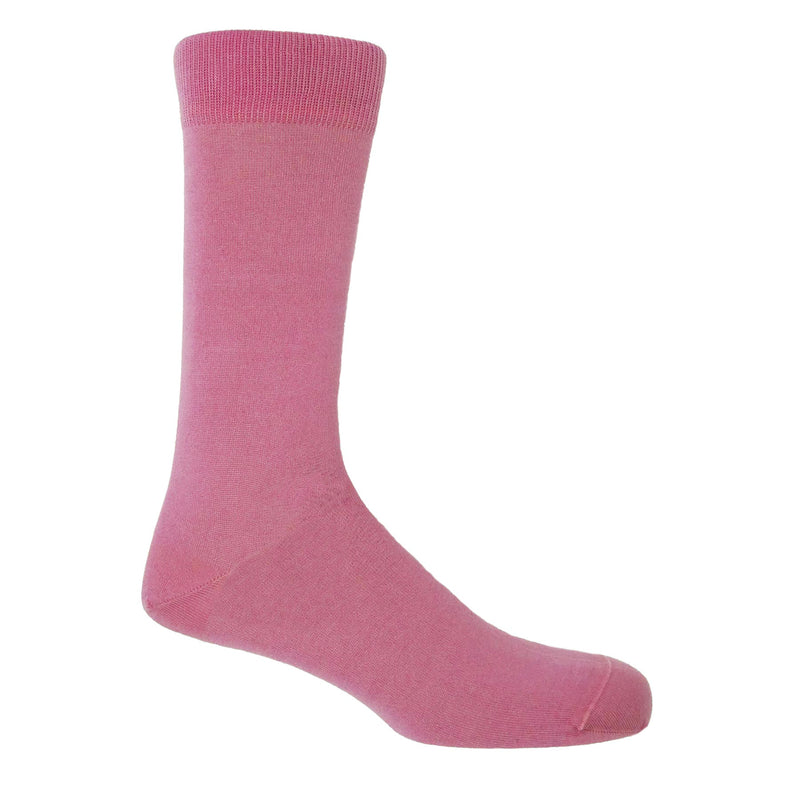 Classic Plain Men's Socks - Pink