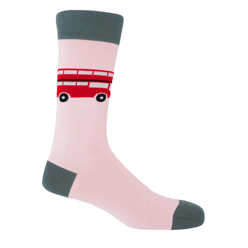 London Bus Men's Socks - Pink