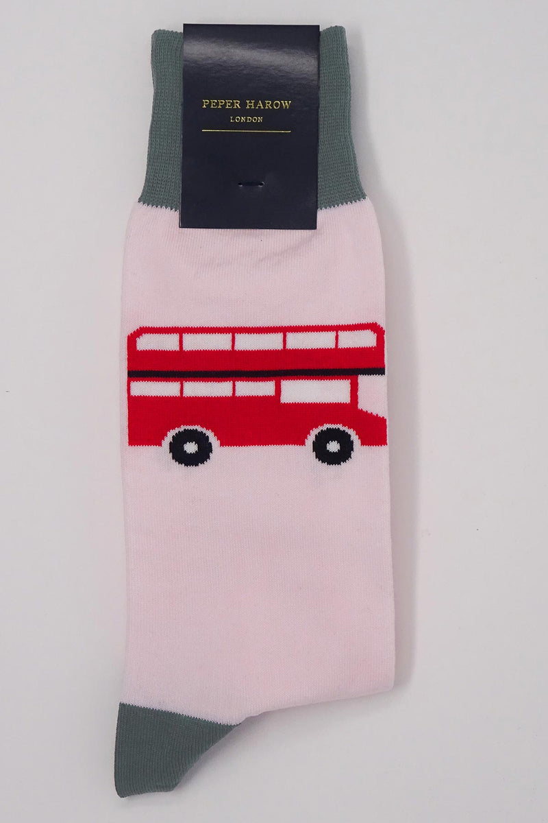 London Bus Pink Luxury Men's Socks