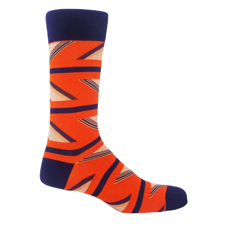 Pumpkin Geometric Men's Luxury Socks