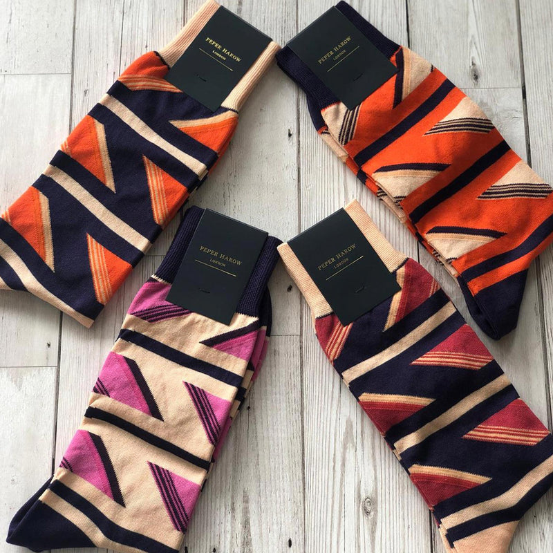 Geometric Men's Luxury Socks