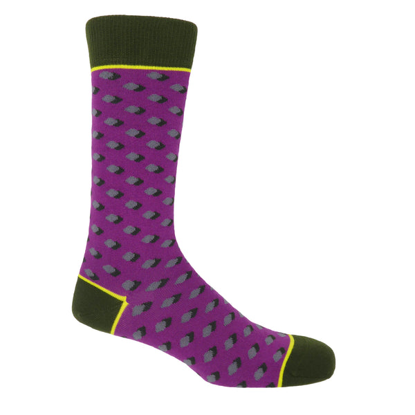 Disruption Violet Luxury Men's Socks