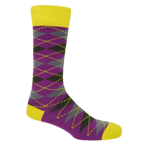 Argyle Sunshine luxury men's socks