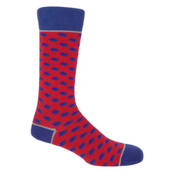 Disruption Scarlet Luxury Men's Socks