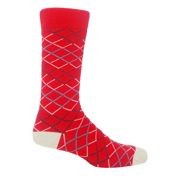 Peper Harow red hastings men's luxury supima cotton socks