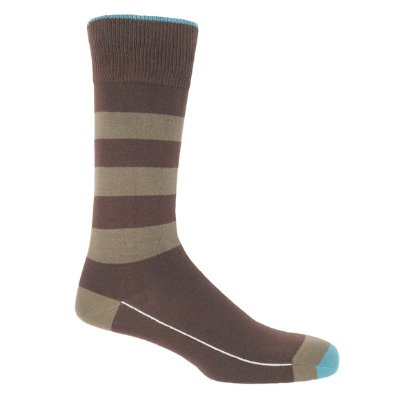 Ribbon Men's Socks - Chocolate