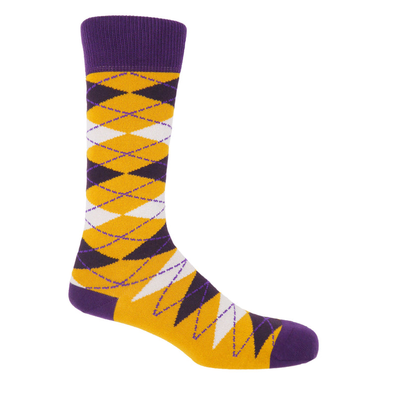 Argyle Mustard Luxury Men's Socks