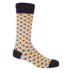 Disruption Taupe Luxury Men's Socks