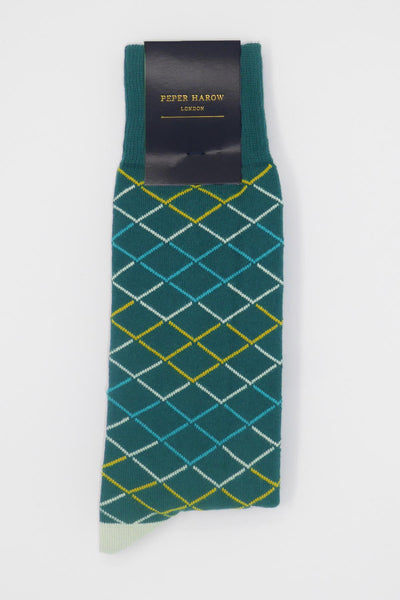 Hastings Sea Green Luxury Men's Socks