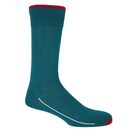 Square Mile Men's Socks - Peacock
