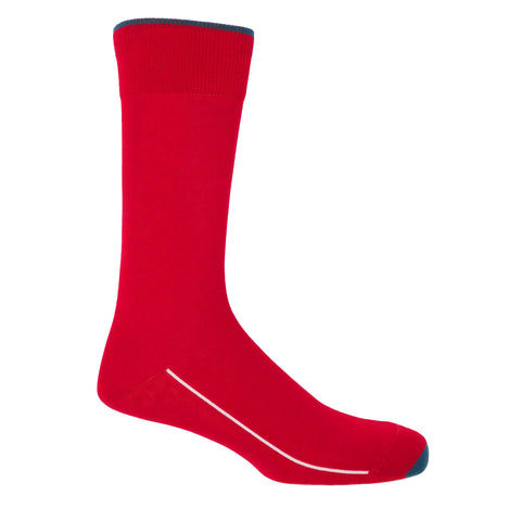 Square Mile Men's Socks - Scarlet