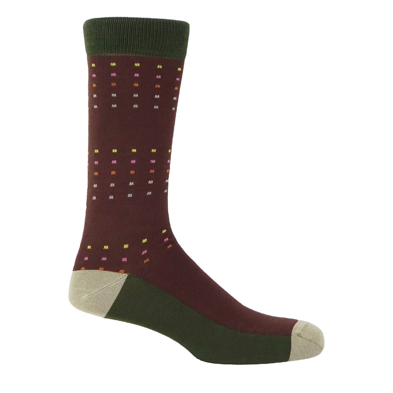 Square Polka Men's Socks - Autumn