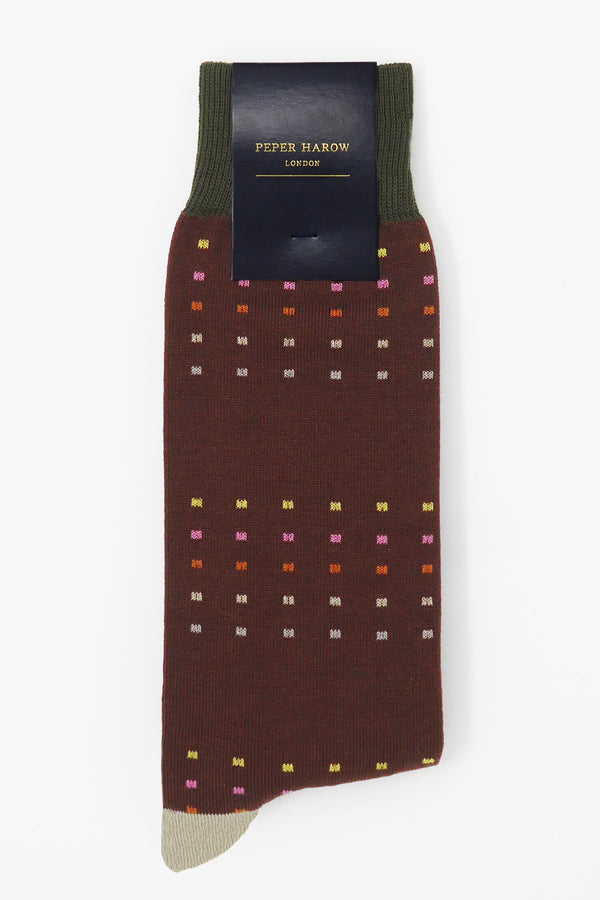 Square Polka Autumn Luxury Men's Socks
