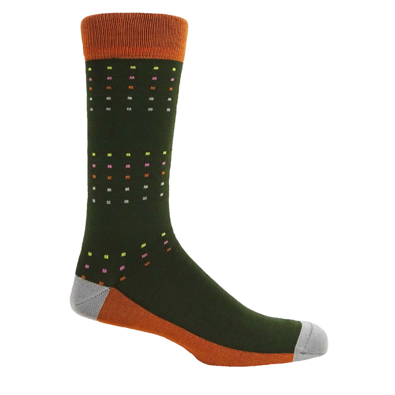 Square Polka Men's Socks - Spring