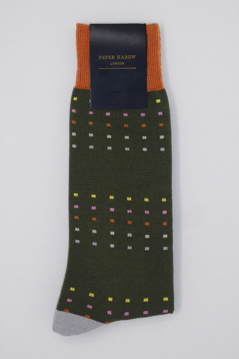 Spring Square Polka Men's Luxury Socks