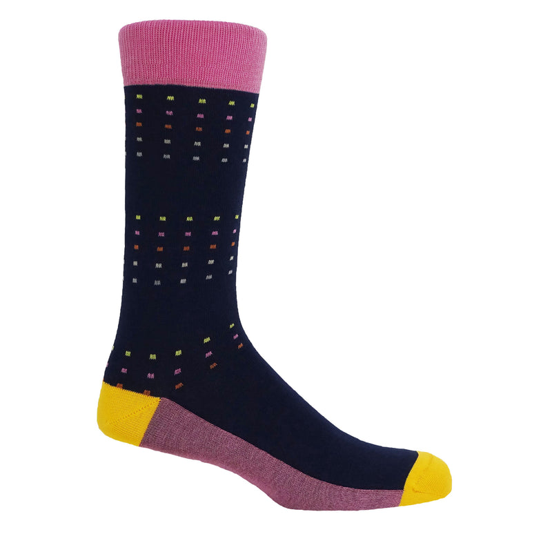 Square Polka Summer Men's Luxury Socks