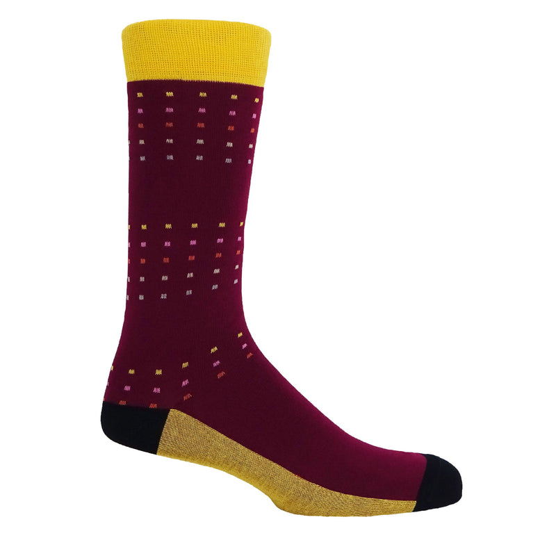 Square Polka Men's Socks - Winter