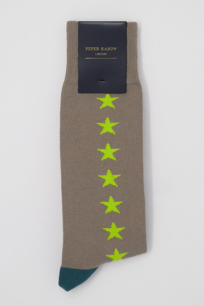 Starfall Olive Luxury Men's Socks