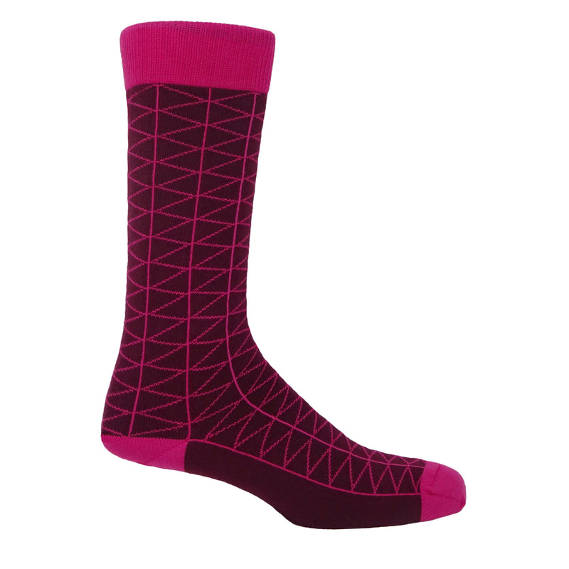 Tritile Men's Socks - Burgundy