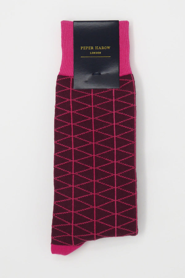 Tritile Burgundy Luxury Men's Socks