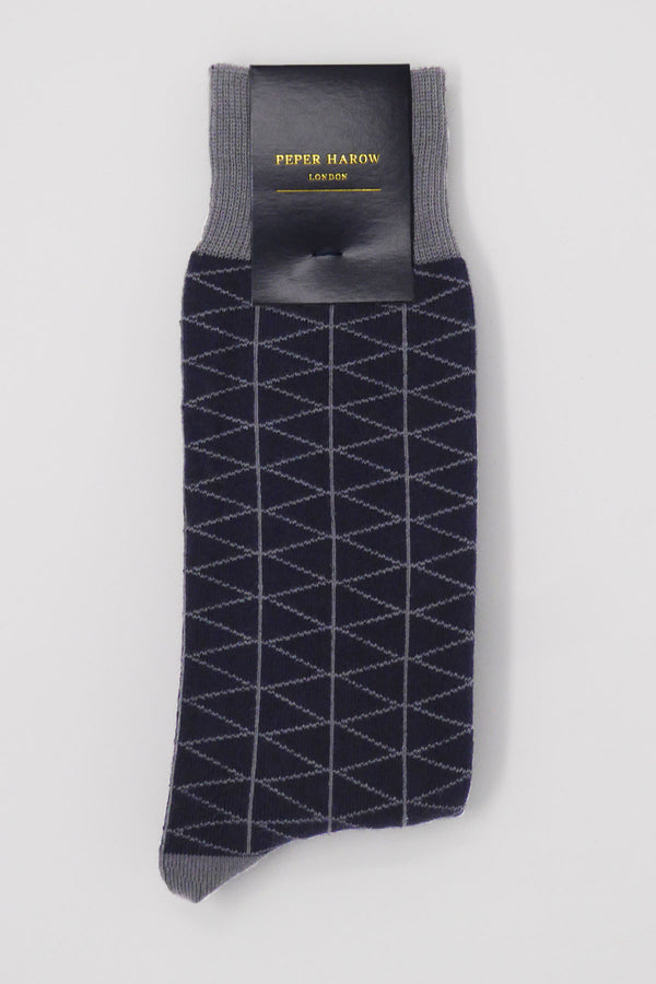 Tritile Navy Men's Luxury Socks
