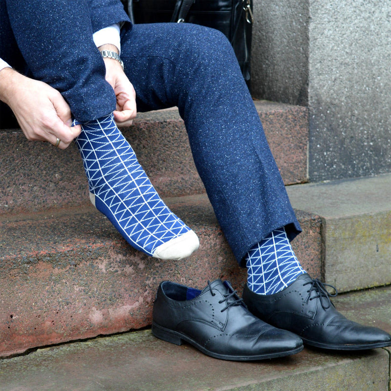 Tritile Royal Blue Men's Luxury Socks