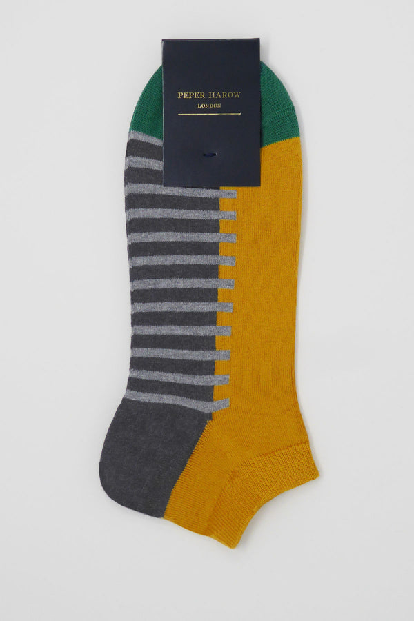 Welford Men's Trainer Socks - Mustard
