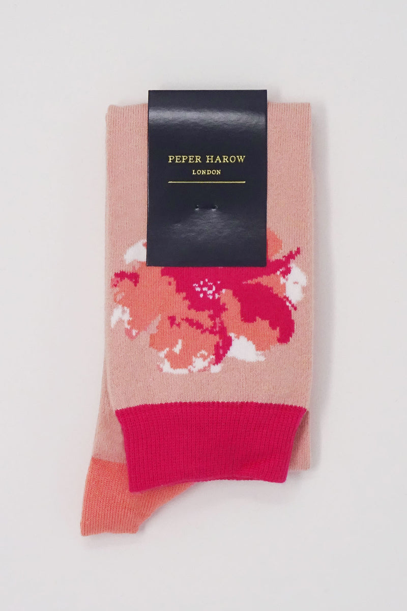 Wild Flower Blush Knee-Length Women's Socks