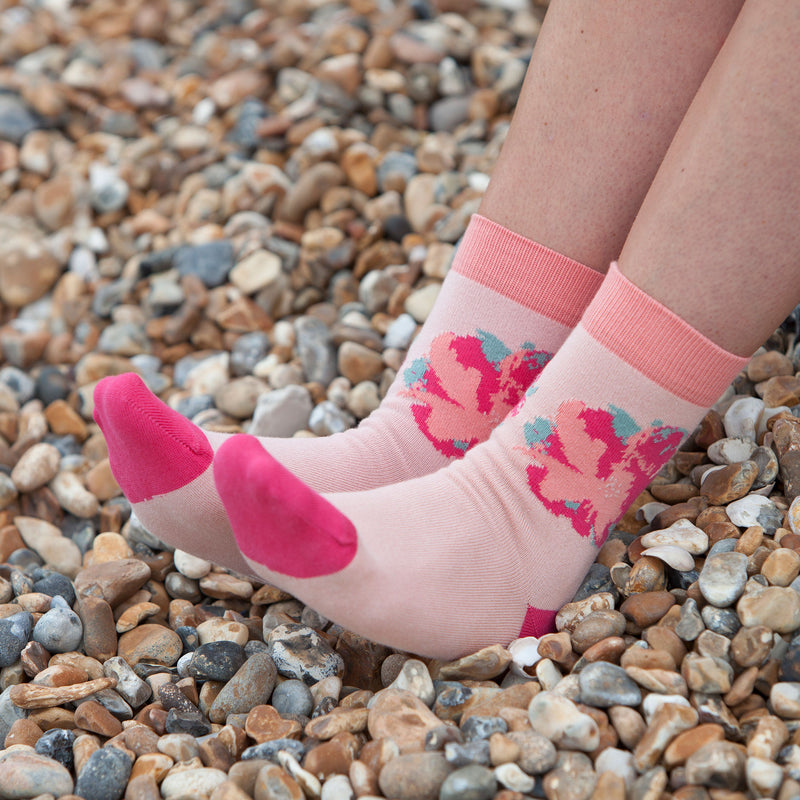 Wild Flower Women's Socks - Blush